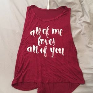 G Mini All of Me Loves All of You Tank Top